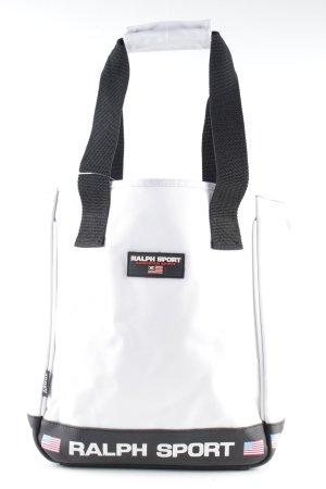 Shopper weiß-schwarz Motivdruck Casual-Look