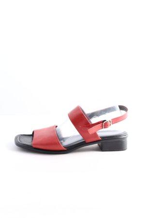 ramonte Comfortabele sandalen rood-zwart casual uitstraling
