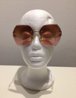 Randlose Sonnenbrille Retro mit Perlen
