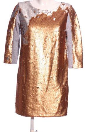 ranpollo Sequin Dress gold-colored-light grey allover print elegant