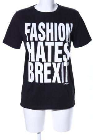 RAPANUI T-Shirt schwarz-weiß Schriftzug gedruckt Casual-Look