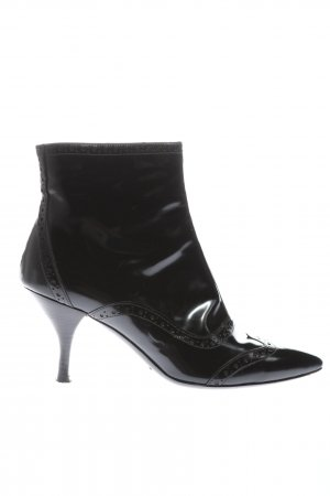 Raphael Reißverschluss-Stiefeletten schwarz Casual-Look