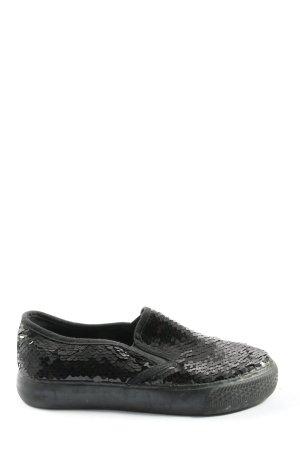 Rapidsoul Sneaker slip-on nero con glitter