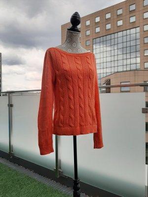 Raplh Lauren Pullover Gr. XS Orange Baumwolle