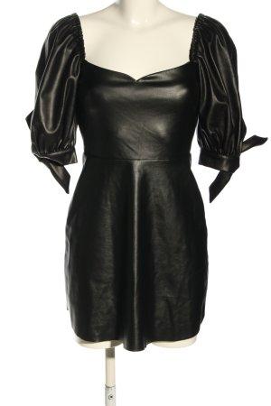 RAQUETTE Kunstlederkleid schwarz Elegant