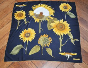 Rar Tiffany + Co. Sunflower Seide Silk Scarf Carre foulard Tuch 84 x 87