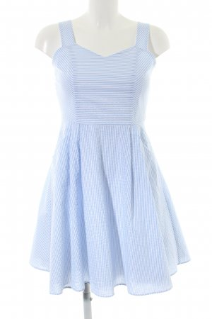 Ballonkleid blau-weiß Streifenmuster Casual-Look