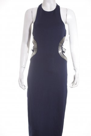 Rare london Abendkleid dunkelblau Perlenverzierung