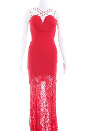 Rare london Abendkleid rot Spitzenbesatz