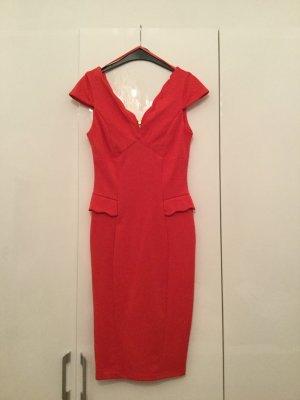 Rare london Robe fourreau rouge clair polyester