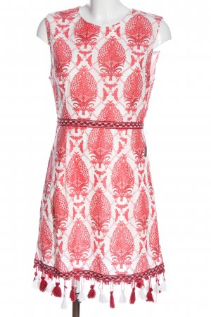 Rare london Fringed Dress red-white abstract pattern casual look