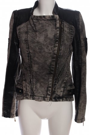 Rare london Denim Jacket black-light grey casual look