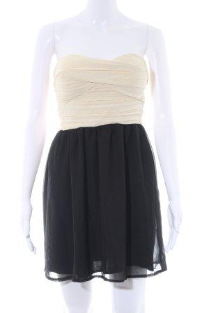 Rare london Minikleid creme-schwarz Elegant