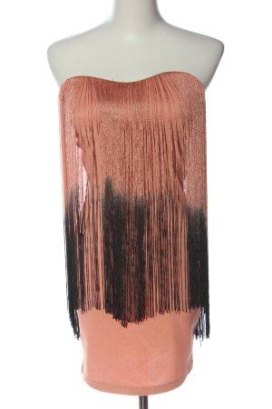 Rare london Minikleid hellorange-schwarz Elegant