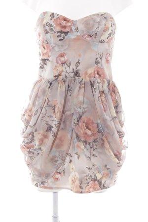 Rare london schulterfreies Kleid Blumenmuster