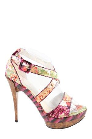 Rare Sandalen met bandjes en hoge hakken roze-room volledige print elegant