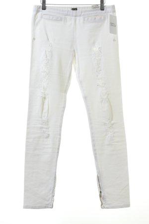Rare london Slim Jeans white Lace trimming