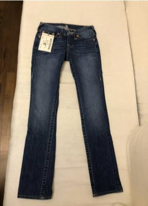 True Religion Jeans a gamba dritta blu Tessuto misto