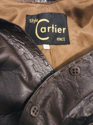 Cartier Leather Jacket dark brown