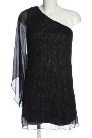 Rare Jurk met langere achterkant zwart casual uitstraling