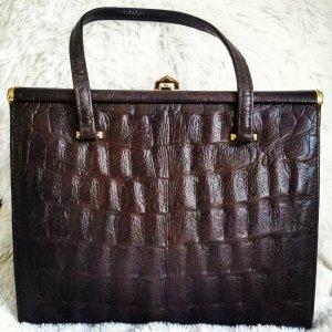 Rarität Boscha Vintage Tasche Kelly Bag Kroko Leder