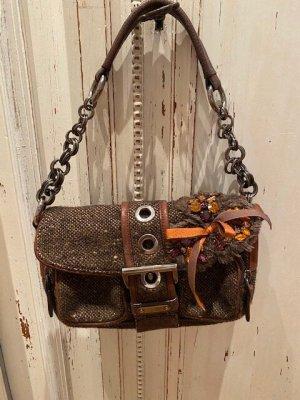 Prada Clutch bronze-colored leather