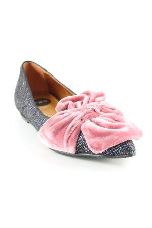 Ras Ballerinas mit Spitze rosa-blau Glitzer-Optik