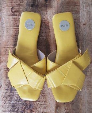 Ras Sandalias cómodas marrón arena-amarillo