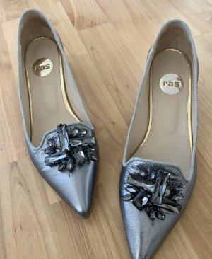 Ras Ballerina's met kant zilver