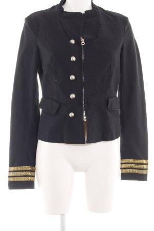 Raser Chaqueta militar negro-color oro look casual