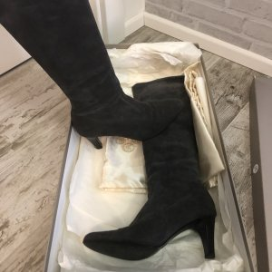 Peter Kaiser Stretch Boots anthracite leather