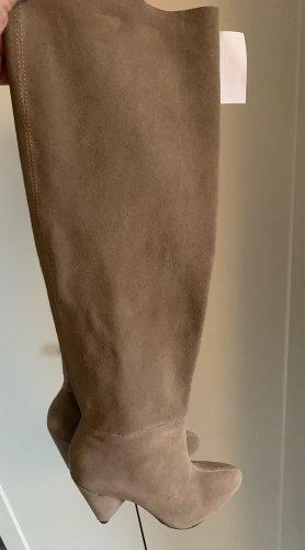 Bershka Wysokie buty na obcasie Wielokolorowy
