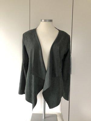 Sweewe Leather Blazer olive green