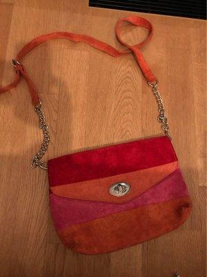 Rauleder Handtasche rot pink orange aus Buenos Aires