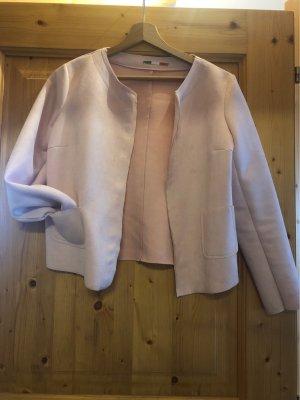 italienische Mode Leren blazer rosé-lichtroze