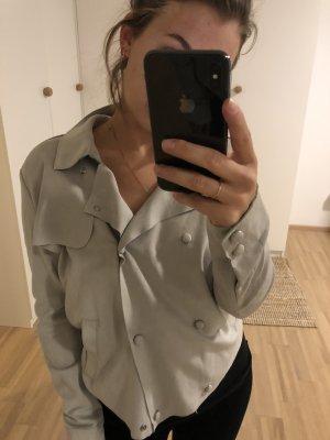 Mango Suit Chaqueta tipo blusa gris claro