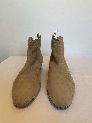 AGL Slip-on Booties beige leather