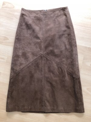 Mauritius Leather Skirt brown