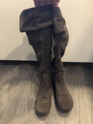 Aldo Krótkie buty ciemnobrązowy