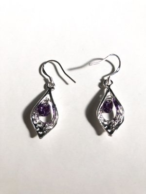 Silver Earrings silver-colored-lilac