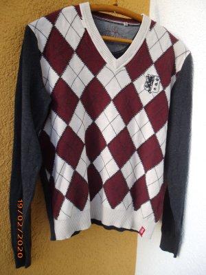 Rauten Pullover von Esprit Gr. 40, Baumwollmischung