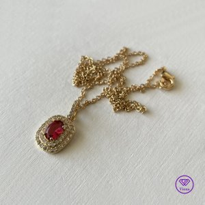 Viona Hanger goud-rood
