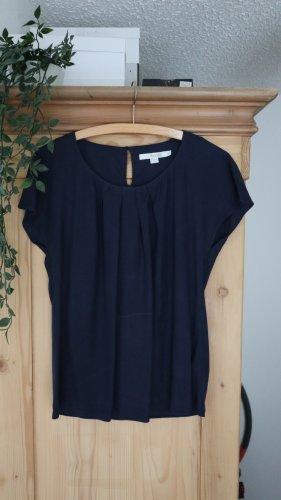 Boden Short Sleeved Blouse dark blue viscose