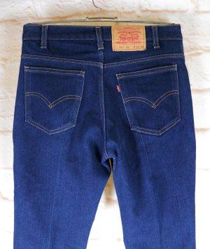 Raw Denim Jeans Hose Levi Strass & Co Levis 417 Sta-Prest Größe W31 L 34  M 38 40 Dark Blue Blau Worker Bügelfalte 70er Look Hippie Straigth High Waist