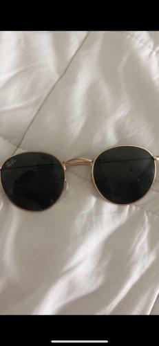 Ray Ban Okrągłe okulary przeciwsłoneczne czarny-brąz