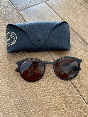 Ray Ban Lunettes de soleil rondes brun-brun foncé