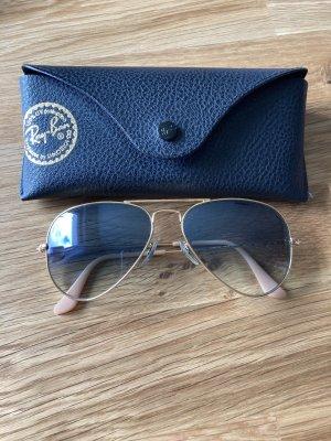 Rayban Gafas de piloto azul aciano-color oro