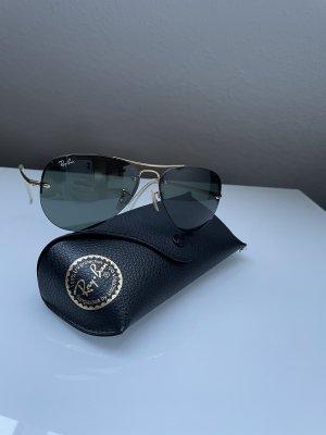 Ray Ban Aviator Glasses gold-colored-dark green