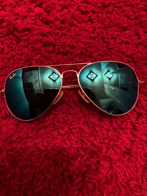 Ray Ban Aviator Glasses gold-colored-blue glas