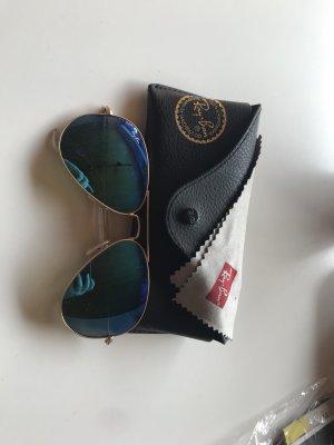 Ray Ban Gafas de piloto azul claro-color oro